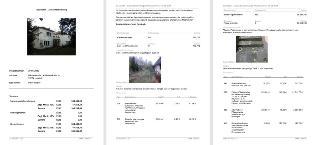 Plan4 Gebäudecheck Diagnoseberichte
