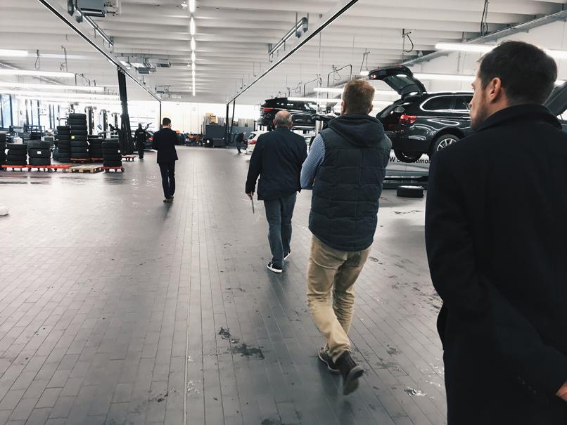 Führung durch das Autohaus Märtin-Werkstatt