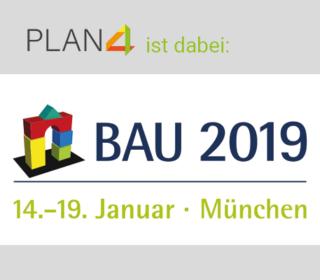 PLAN4 auf der Bau 2019 in Münschen mit Gebäudecheck und tick@time
